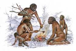 Homo Erectus around fire